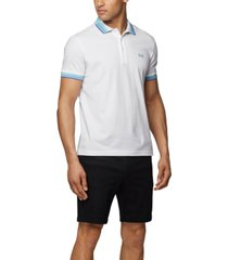 boss men's paddy pique cotton polo shirt