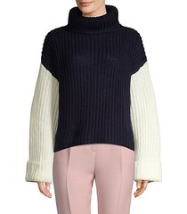 oversized three-tone slouchy sweater