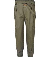 miu miu classic cargo pocket belted trousers