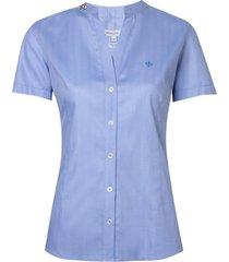 camisa ml fem cetim maq bord pedrarias (azul claro, 46)