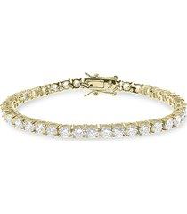 cz by kenneth jay lane women's look of real 14k goldplated & cubic zirconia tennis bracelet