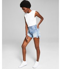 and now this women's high-rise denim shorts