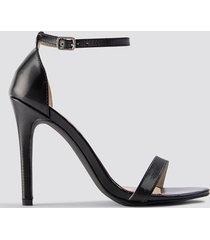 na-kd shoes stiletto sandal - black