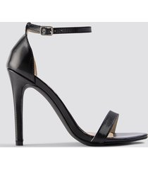 na-kd shoes stiletto sandal - black