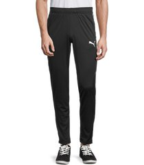 puma men's speed camo-side panel track pants - black - size s