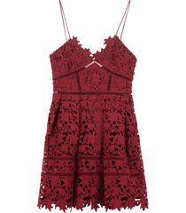 self-portrait floral macramé-lace dress