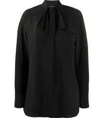 etro tie-neck crepe blouse - black