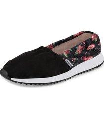 baletas ine flores negro para mujer croydon