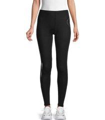 lauren moshi women's graphic cotton-blend leggings - jet black - size xs