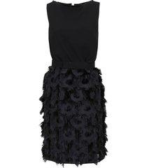 black technical fabric dress