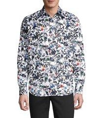 robert graham men's marigold printed sport shirt - white multicolor - size s