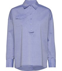 boggi blouse långärmad skjorta blå second female