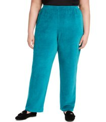 alfred dunner plus size bright idea velour pants