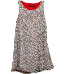 vestido animal print mapamondo gunta