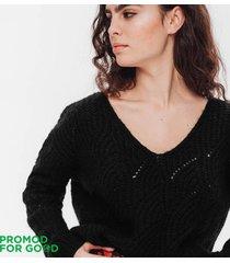 ażurowy sweter oversize
