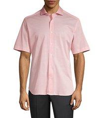pique cotton short sleeve sport shirt