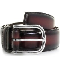 anderson's belts polished leather belt | burgundy | a3273pld1