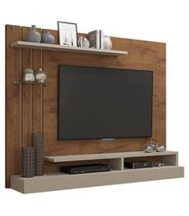 painel para tv até 50 pol permóbili móveis valencia savana/off white