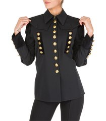 alberta ferretti jacket blazer military