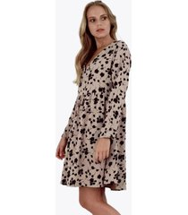 vestido alicia cuello en v floral print jacinta tienda