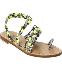 emanuela caruso handmade fluo braid sandals