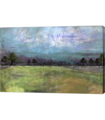 "metaverse abstract aqua sky landscape by jean plout canvas art, 30"" x 20"""
