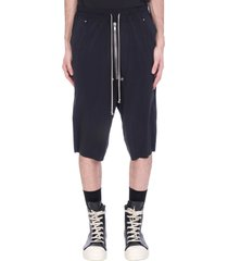 rick owens bella pods pants in black polyamide