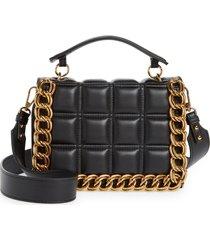 topshop webb chain crossbody - black