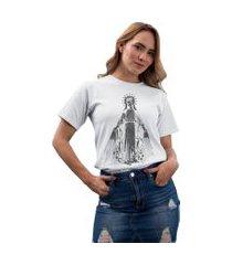 camiseta basica my t-shirt crowned saint branco