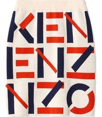 kenzo kenzo jacquard monogram mini skirt
