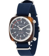 briston watches clubmaster diver watch - blue