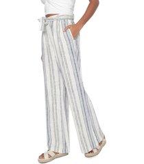 calça rip curl pantalona dusk beach pant off-white/azul