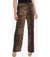 vince camuto women's leopard spots pull on pants