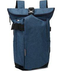 mochila de hombre. mochila para hombres mujeres oxford-azul