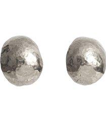kolczyki shell xl srebrne