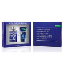 kit benetton colors man blue edt 100ml + pós barba 75ml 1 unidade único