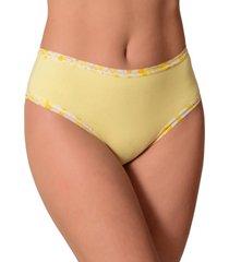 calcinha vip lingerie cintura alta algodão fio 40 amarelo