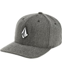 volcom men's flex-fit heathered logo hat