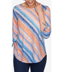 ruby rd. women's misses knit watercolor top