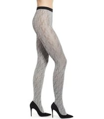 women's fendi double f logo metallic tights