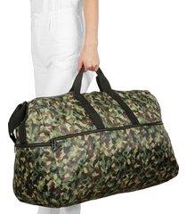 maleta xl plegable estampado camuflado citybags multicolor