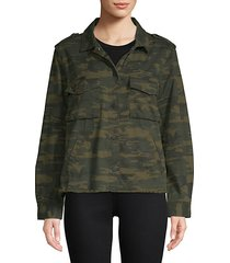 in the fray camouflage cotton jacket