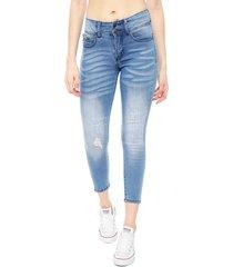 jeans il gioco megan ii full push up azul - calce ajustado