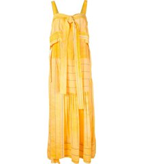 3.1 phillip lim striped tie-front dress - yellow