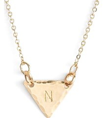 nashelle 14k-gold fill initial triangle necklace in 14k gold fill n at nordstrom