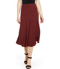 women's rails anya print midi skirt, size x-small - red