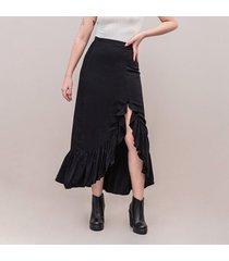 falda linea a larga talle alto away