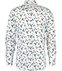 overhemd colourful birds wit