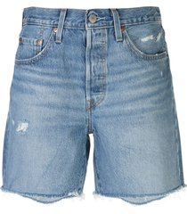levi's 501 denim mid-thigh shorts - blue