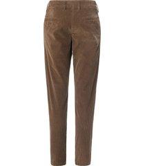 modern fit-fijncord broek model lennox van mac bruin